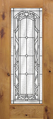 Full Lite Knotty Alder Wood Door Slab #292