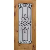 Full Lite Knotty Alder Wood Door Slab #299