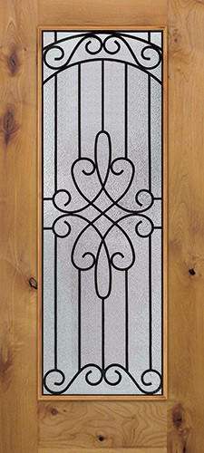 Full Lite Knotty Alder Wood Door Slab #299