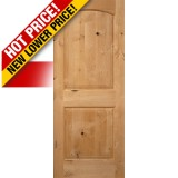 "Interior 6'8"" x 1-3/4"" 2-Panel Arch Knotty Alder Interior Wood Door Slab"