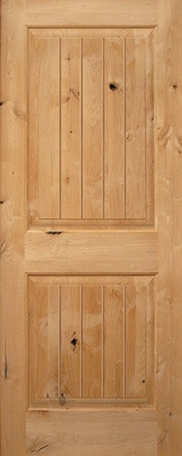 Cheap interior 6 39 8 2 panel square top v groove knotty alder wood door slab 6 panel hardwood interior doors