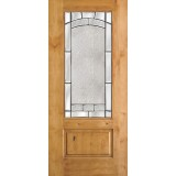 3/4 Lite Knotty Alder Wood Door Slab #67