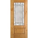 3/4 Lite Knotty Alder Wood Door Slab #67