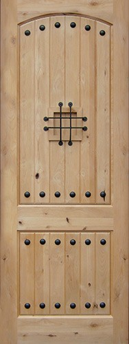"8'0"" Tall Rustic Knotty Alder Wood Door Slab #UK20"