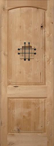 "8'0"" Tall Rustic Knotty Alder Wood Door Slab #UK26"