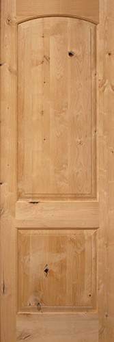 "Interior 8'0"" 2-Panel Arch Knotty Alder Interior Wood Door Slab"