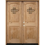 Rustic Knotty Alder Wood Double Door Unit #UK26