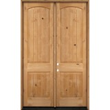 "8'0"" Tall Rustic Knotty Alder Wood Double Door Unit #UK25"