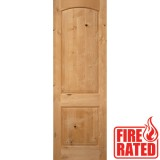 "Fire Rated 8'0"" 2-Panel Arch Knotty Alder Door Slab"