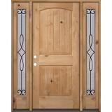 Rustic Knotty Alder Wood Door Unit with #299 Sidelites #UK25