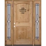 Rustic Knotty Alder Wood Door Unit with #299 Sidelites #UK26