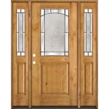 Half Lite Knotty Alder Wood Door Unit with Sidelites #27