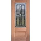 3/4 Lite Mahogany Wood Door Slab #277