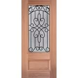 3/4 Lite Mahogany Wood Door Slab #279
