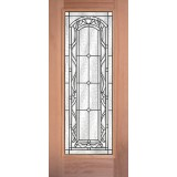 Full Lite Mahogany Wood Door Slab #292