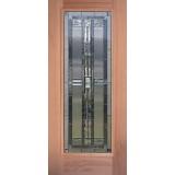 Full Lite Mahogany Wood Door Slab #297