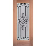 Full Lite Mahogany Wood Door Slab #299