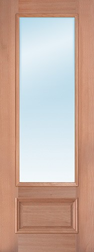 "8'0"" Tall 3/4 Lite Clear Low-E Mahogany Wood Door Slab"