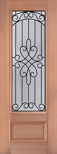 "8'0"" Tall 3/4 Lite Mahogany Wood Door Slab #299"