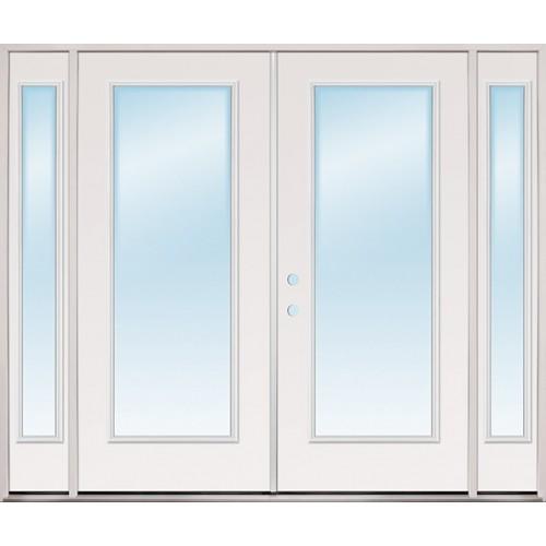 8 0 Wide Full Lite Steel Patio Prehung Double Door