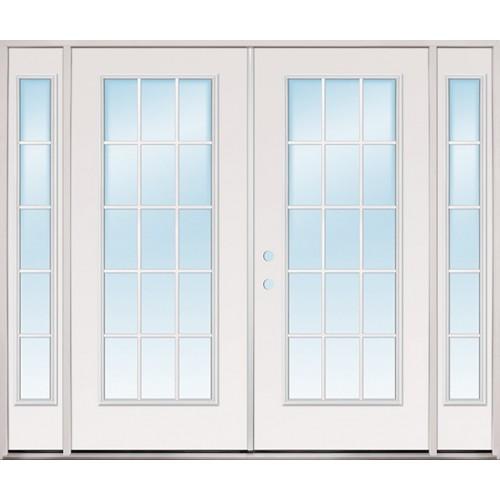 8 0 Wide 15 Lite Fibergl Patio Prehung Double Door Unit