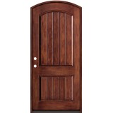 Rustic Fiberglass Prehung Arched Door Unit