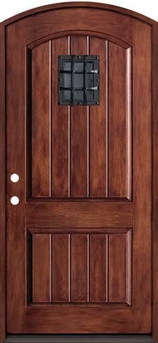 Rustic Fiberglass Prehung Arched Door Unit with Speakeasy & Cheap Rustic Fiberglass Prehung Arched Door Unit with Speakeasy