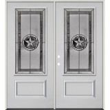 Texas Star 3/4 Lite Fiberglass Prehung Double Door Unit #70