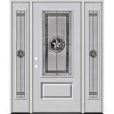 Texas Star 3/4 Lite Fiberglass Prehung Door Unit with Sidelites #70