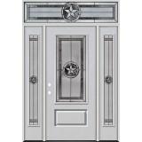 Texas Star 3/4 Lite Fiberglass Prehung Door Unit with Transom #70