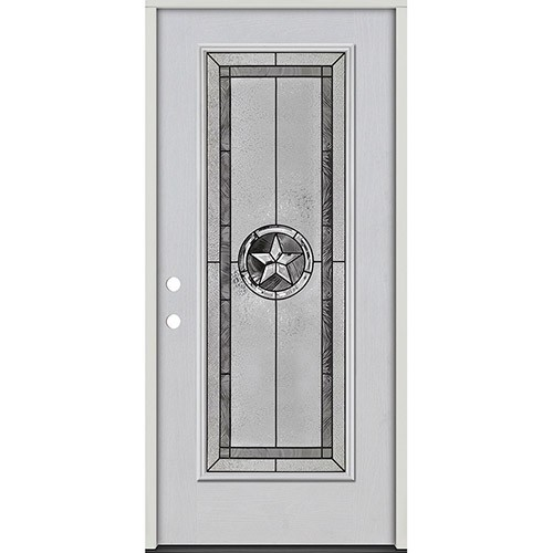 Texas Star Full Lite Fiberglass Prehung Door Unit #90