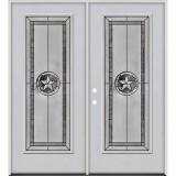 Texas Star Full Lite Fiberglass Prehung Double Door Unit #90