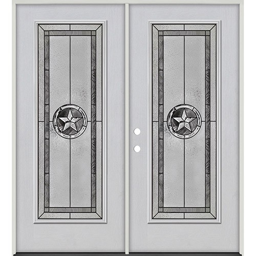 Texas Star Full Lite Fiberglass Prehung Double Door Unit #90