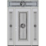 Texas Star Full Lite Fiberglass Prehung Door Unit with Transom #90