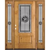 Texas Star 3/4 Lite Knotty Alder Wood Door Unit with Sidelites #70