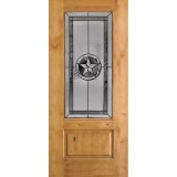 Texas Star 3/4 Lite Knotty Alder Wood Door Slab #70