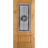 Texas Star 3/4 Lite Knotty Alder Wood Door Slab #70