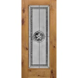 Texas Star Full Lite Knotty Alder Wood Door Slab #90