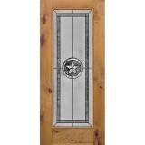Texas Star Full Lite Knotty Alder Wood Door Slab #90