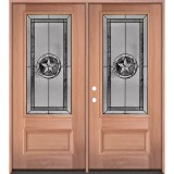 Texas Star 3/4 Lite Mahogany Wood Double Door Unit #70