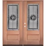 Texas Star 3/4 Lite Mahogany Wood Double Door Unit #70