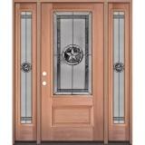 Texas Star 3/4 Lite Mahogany Wood Door Unit with Sidelites #70