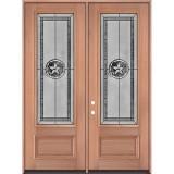 "Texas Star 8'0"" Tall 3/4 Lite Mahogany Wood Double Door Unit #90"