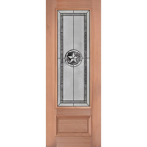 "Texas Star 8'0"" Tall 3/4 Lite Mahogany Wood Door Slab #90"