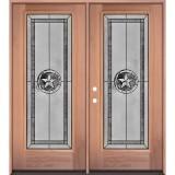 Texas Star Full Lite Mahogany Wood Double Door Unit #90