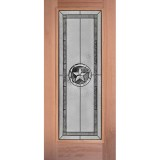 Texas Star Full Lite Mahogany Wood Door Slab #90