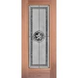 Texas Star Full Lite Mahogany Wood Door Slab #90