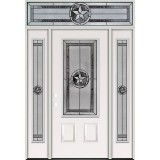 Texas Star 3/4 Lite Steel Prehung Door Unit with Transom #70