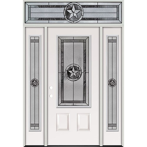Texas Star 3/4 Lite Steel Prehung Door Unit with Transom #70