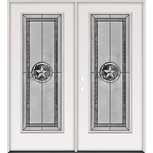 Texas Star Full Lite Steel Prehung Double Door Unit #90